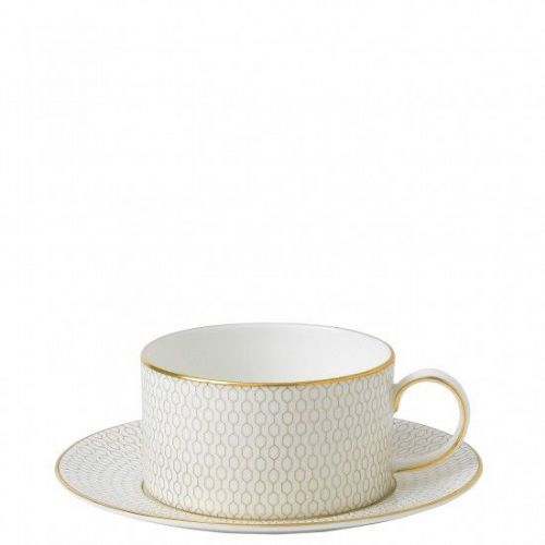 Arris Bone China Teacup & Saucer